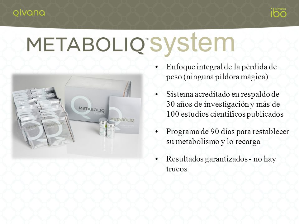 system Enfoque integral de la pérdida de peso (ninguna píldora mágica)