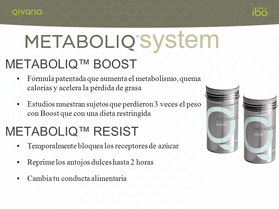 system METABOLIQ™ BOOST METABOLIQ™ RESIST