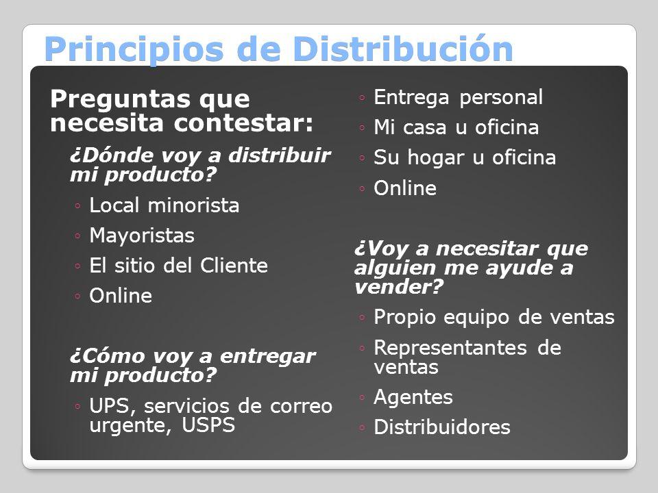 Principios de Distribución