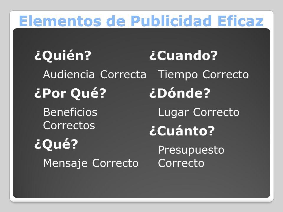 Elementos de Publicidad Eficaz
