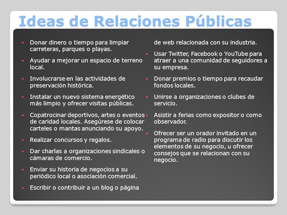 Ideas de Relaciones Públicas