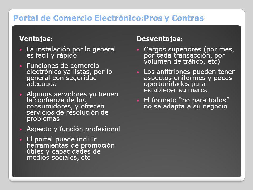Portal de Comercio Electrónico:Pros y Contras