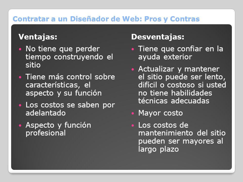 Contratar a un Diseñador de Web: Pros y Contras