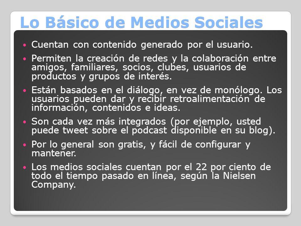 Lo Básico de Medios Sociales