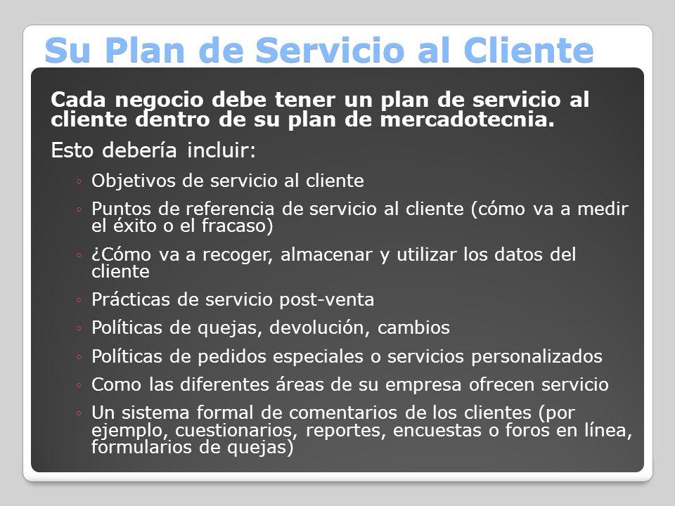 Su Plan de Servicio al Cliente