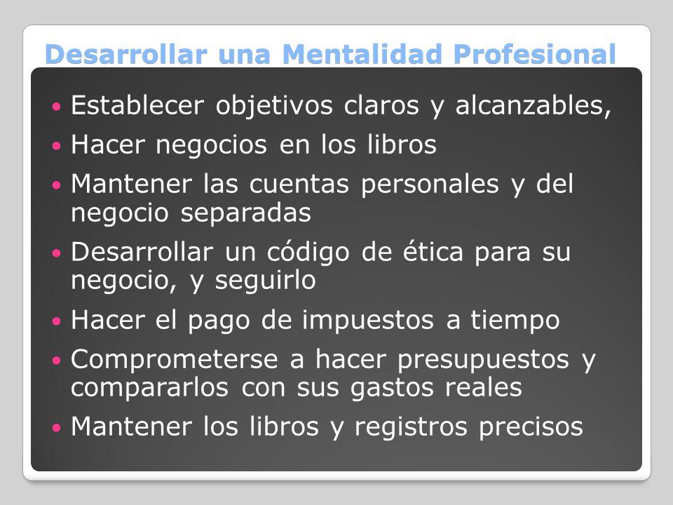 Desarrollar una Mentalidad Profesional