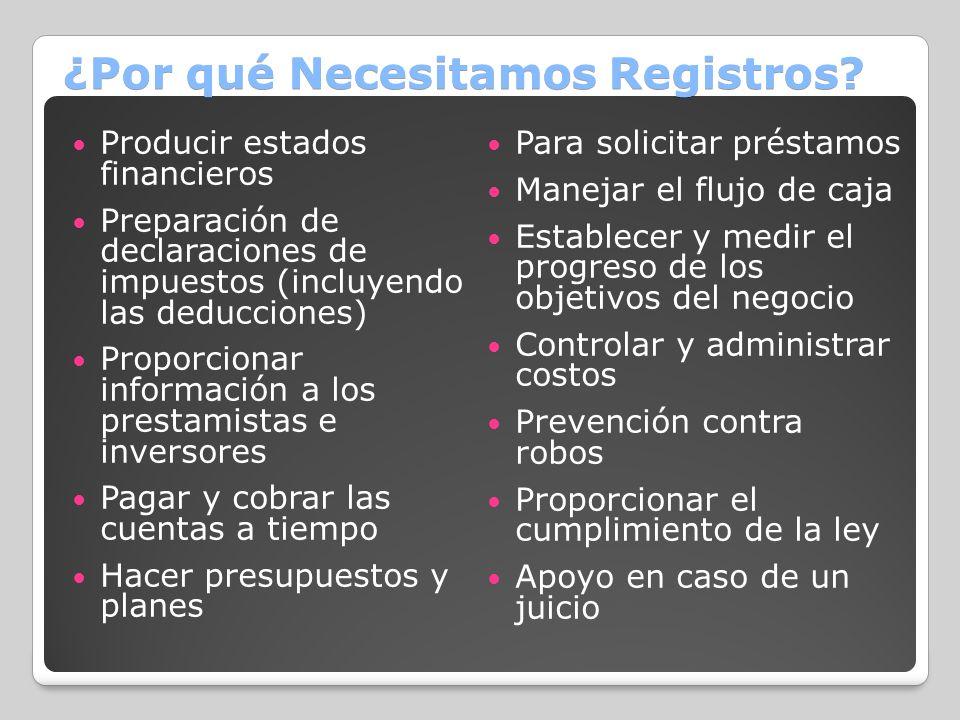 ¿Por qué Necesitamos Registros