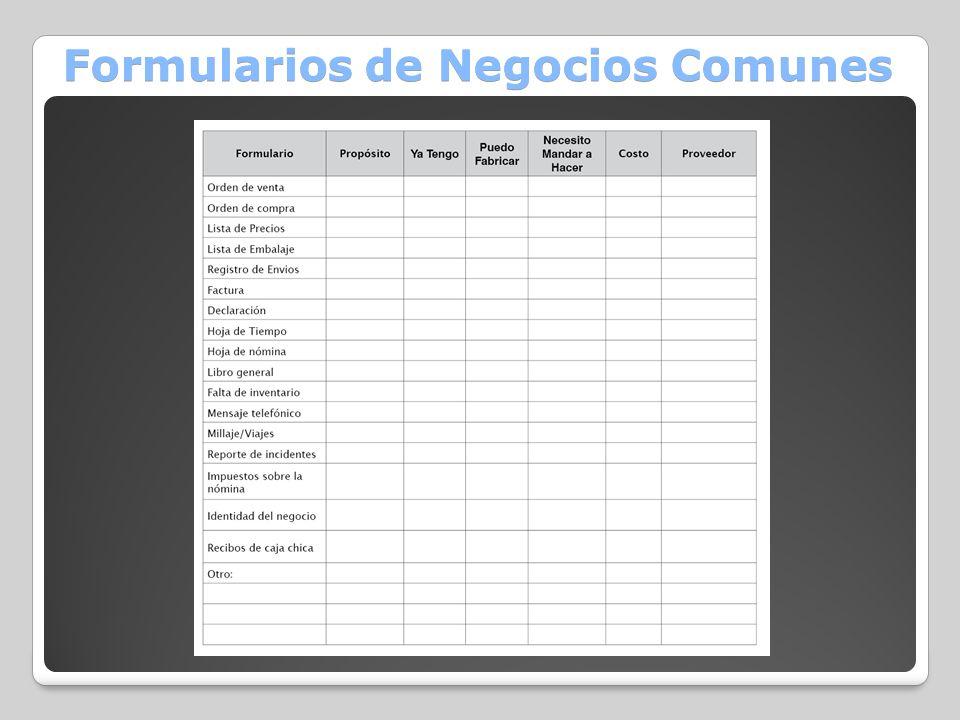 Formularios de Negocios Comunes