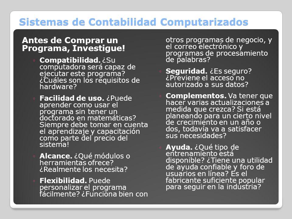 Sistemas de Contabilidad Computarizados