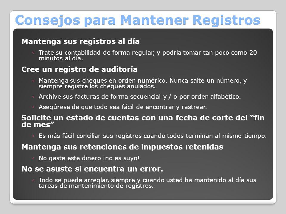 Consejos para Mantener Registros