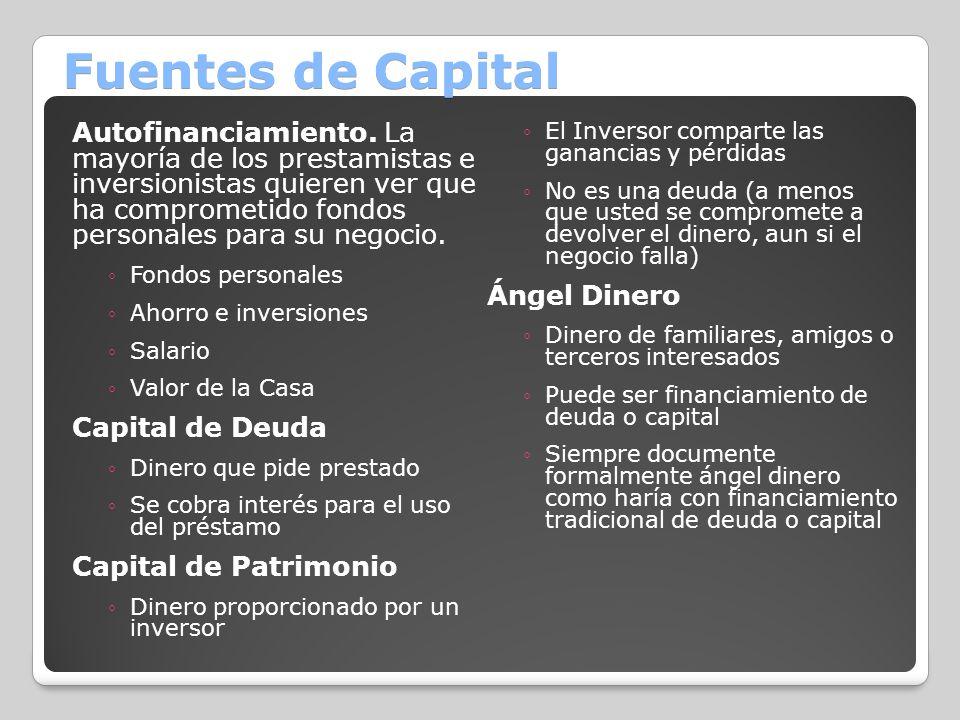 Fuentes de Capital
