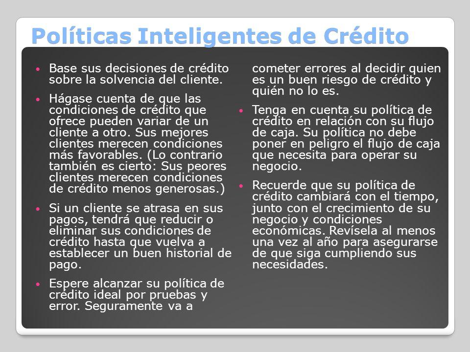 Políticas Inteligentes de Crédito