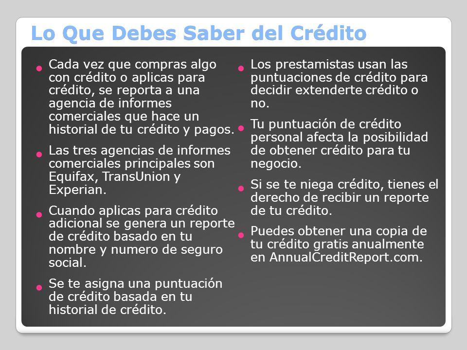 Lo Que Debes Saber del Crédito