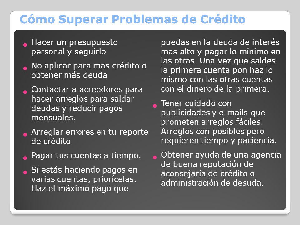 Cómo Superar Problemas de Crédito
