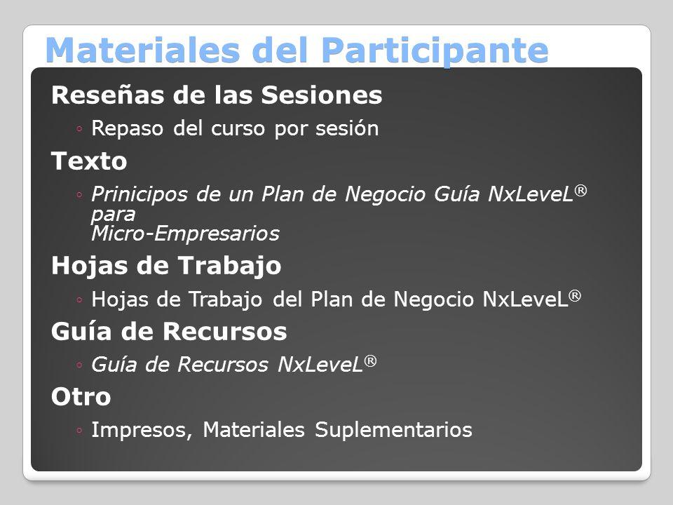 Materiales del Participante