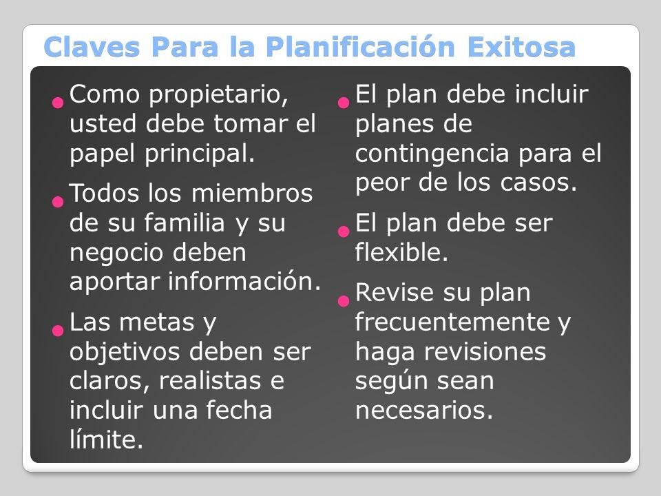 Claves Para la Planificación Exitosa