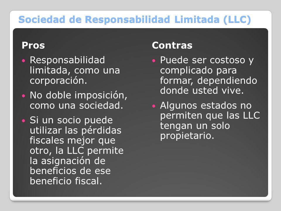 Sociedad de Responsabilidad Limitada (LLC)