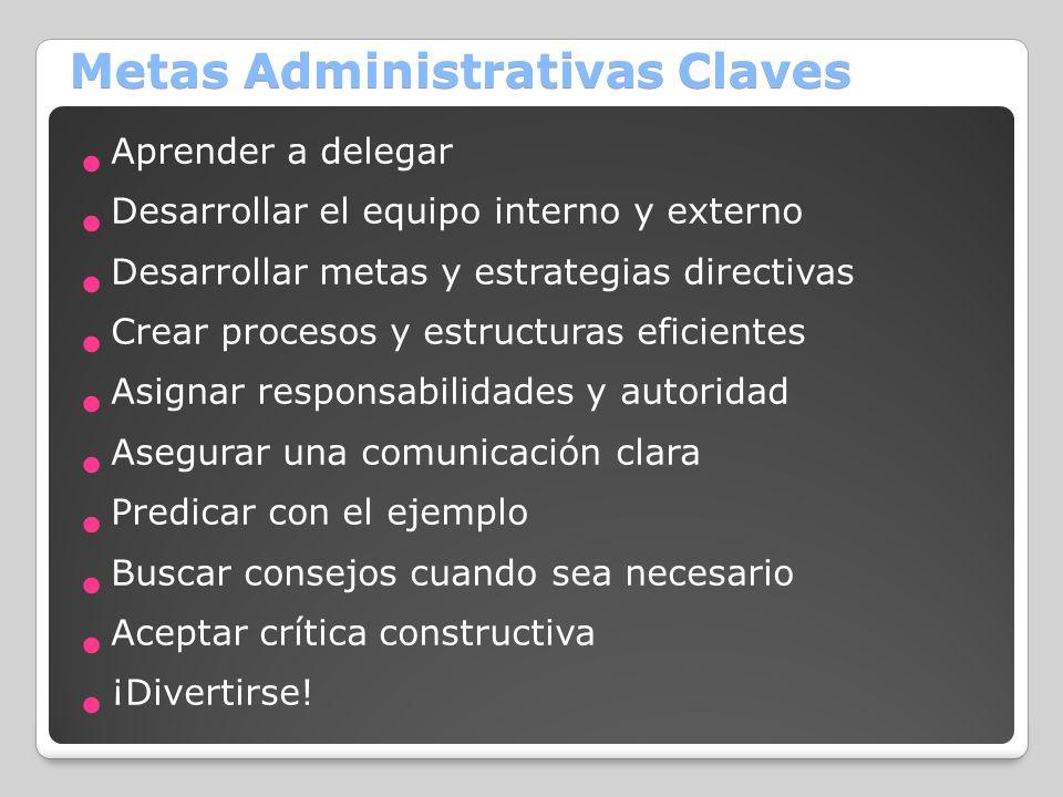 Metas Administrativas Claves
