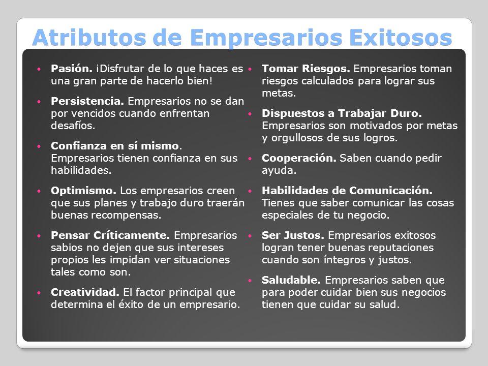 Atributos de Empresarios Exitosos