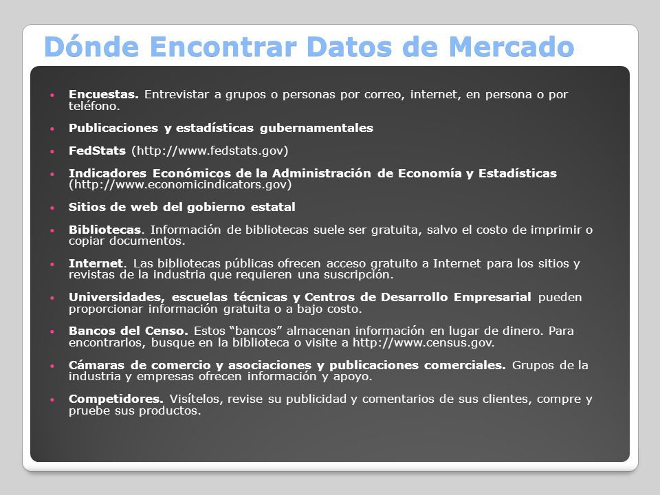Dónde Encontrar Datos de Mercado