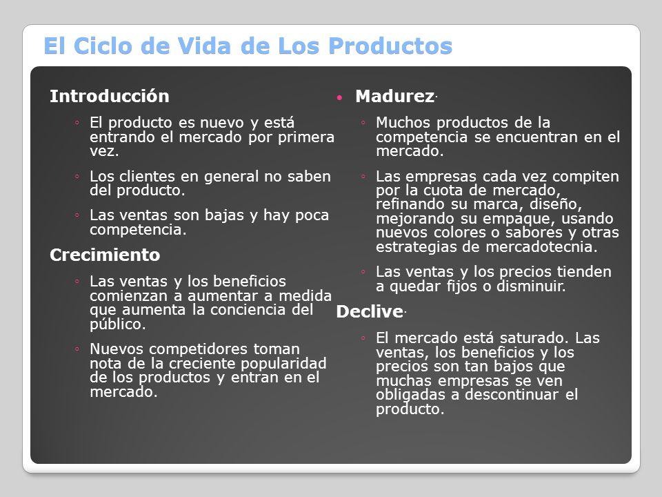 El Ciclo de Vida de Los Productos
