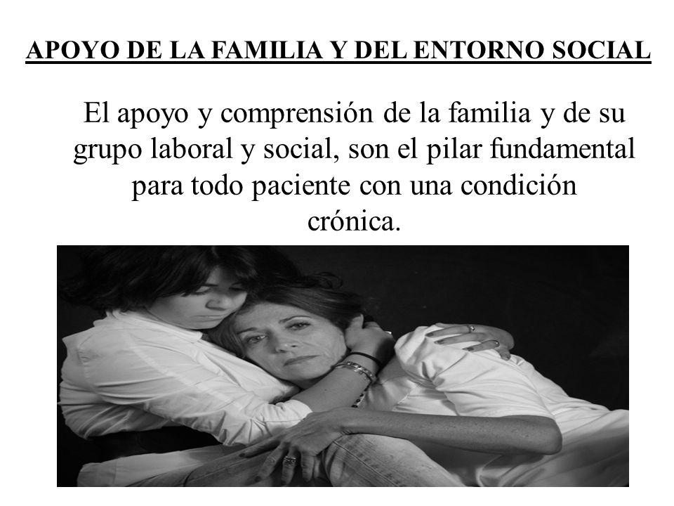 El apoyo y comprensión de la familia y de su