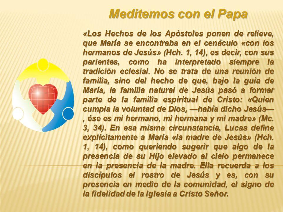 Meditemos con el Papa