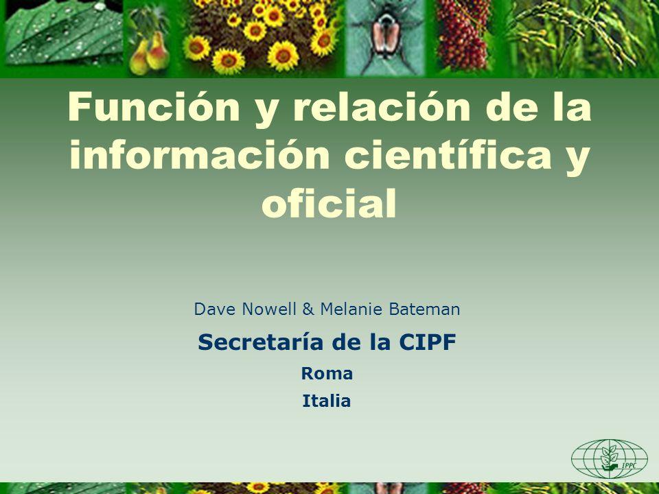 Función y relación de la información científica y oficial