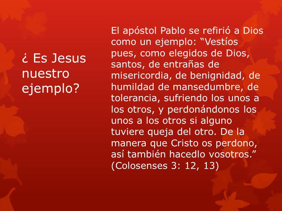 ¿ Es Jesus nuestro ejemplo