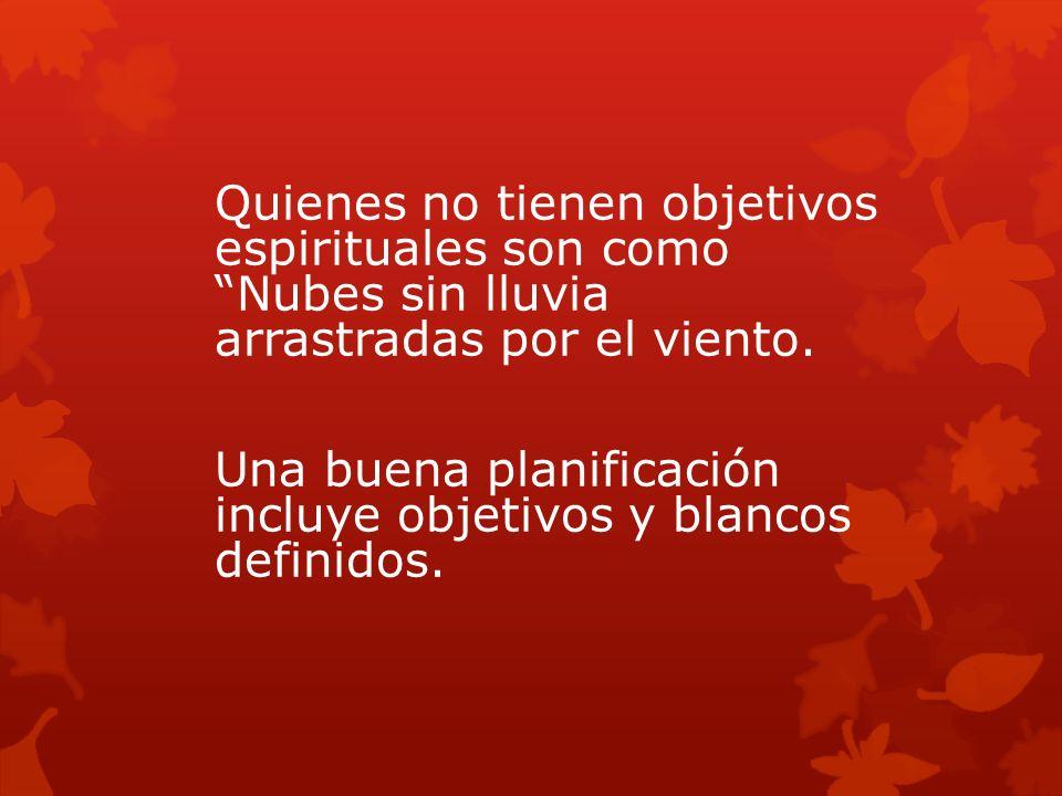 Quienes no tienen objetivos espirituales son como Nubes sin lluvia arrastradas por el viento.