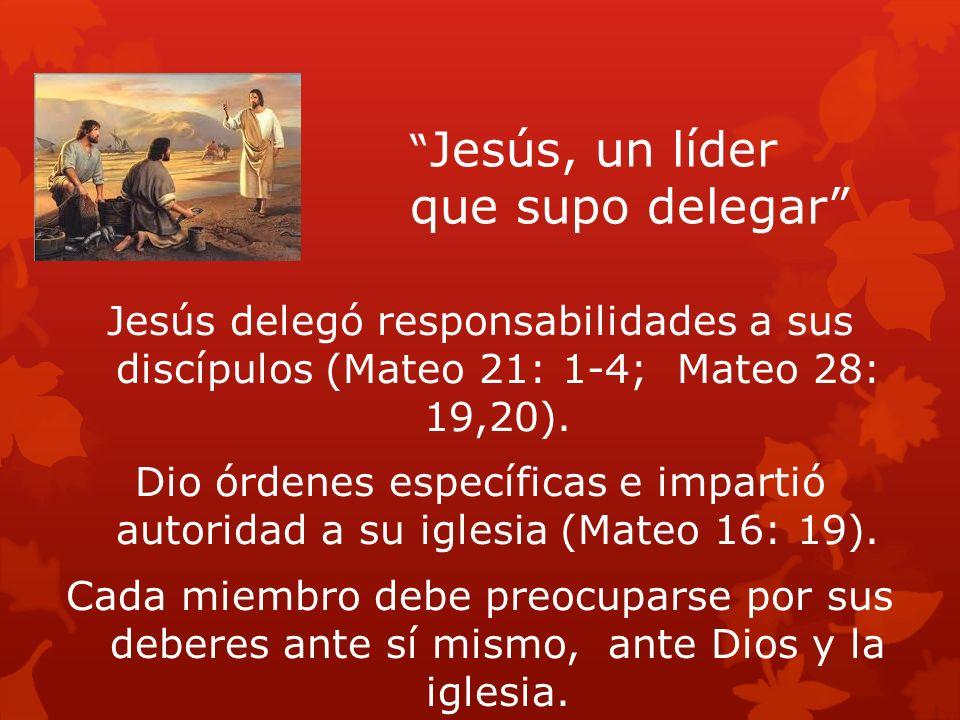 Jesús, un líder que supo delegar