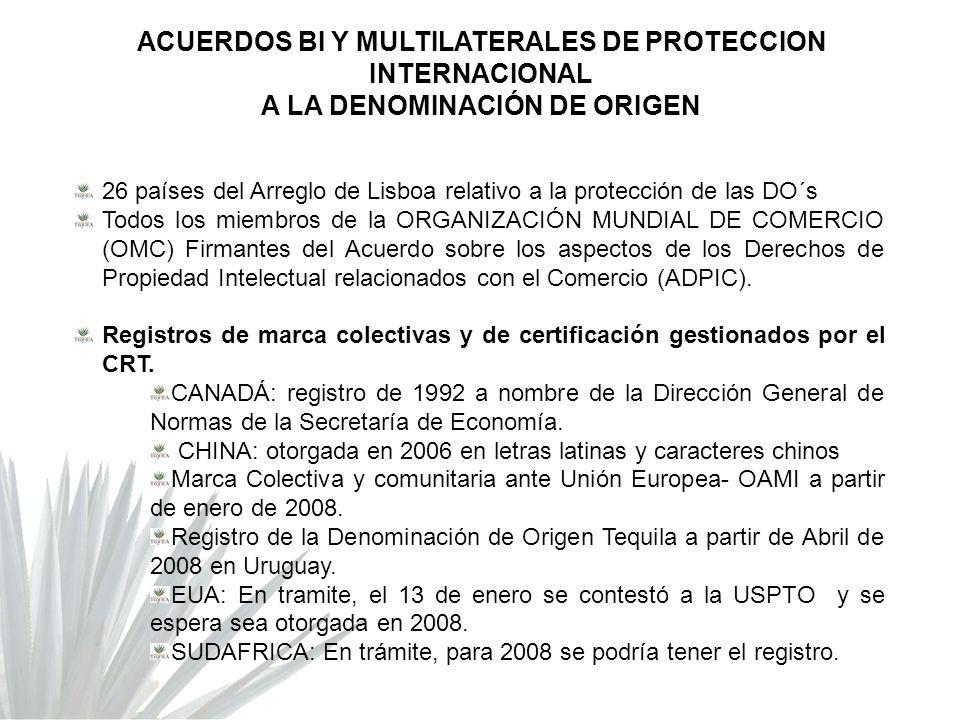 ACUERDOS BI Y MULTILATERALES DE PROTECCION INTERNACIONAL