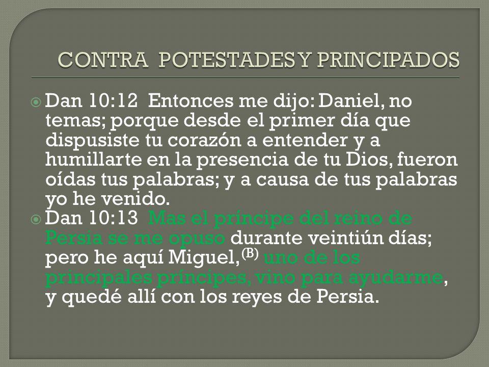 CONTRA POTESTADES Y PRINCIPADOS