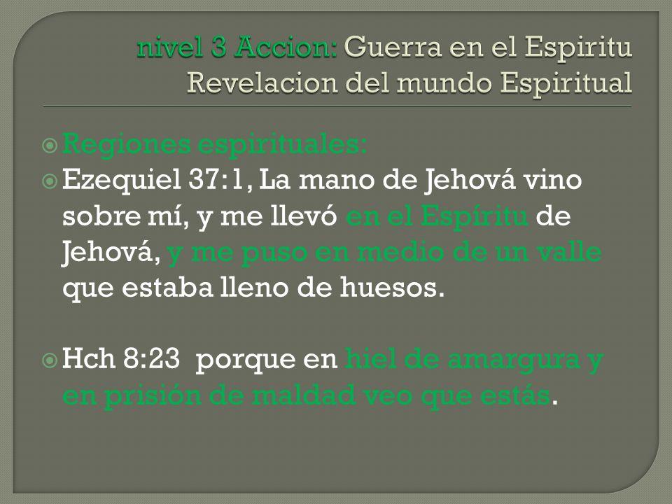 nivel 3 Accion: Guerra en el Espiritu Revelacion del mundo Espiritual