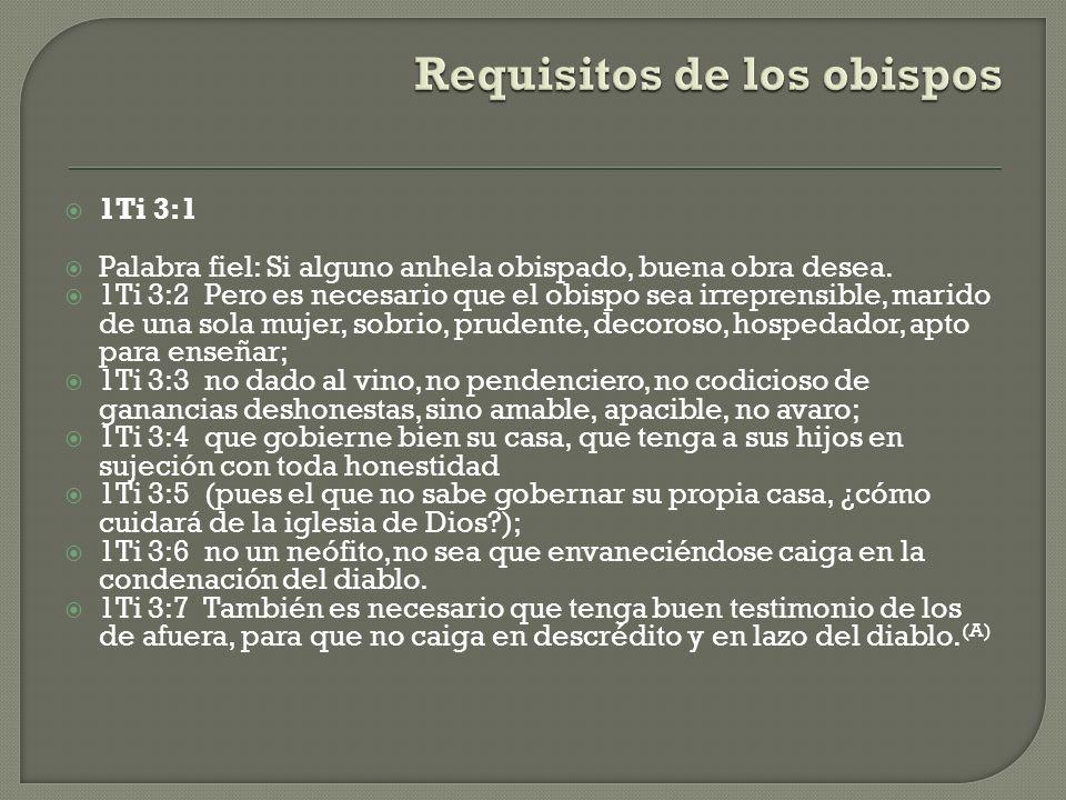 Requisitos de los obispos