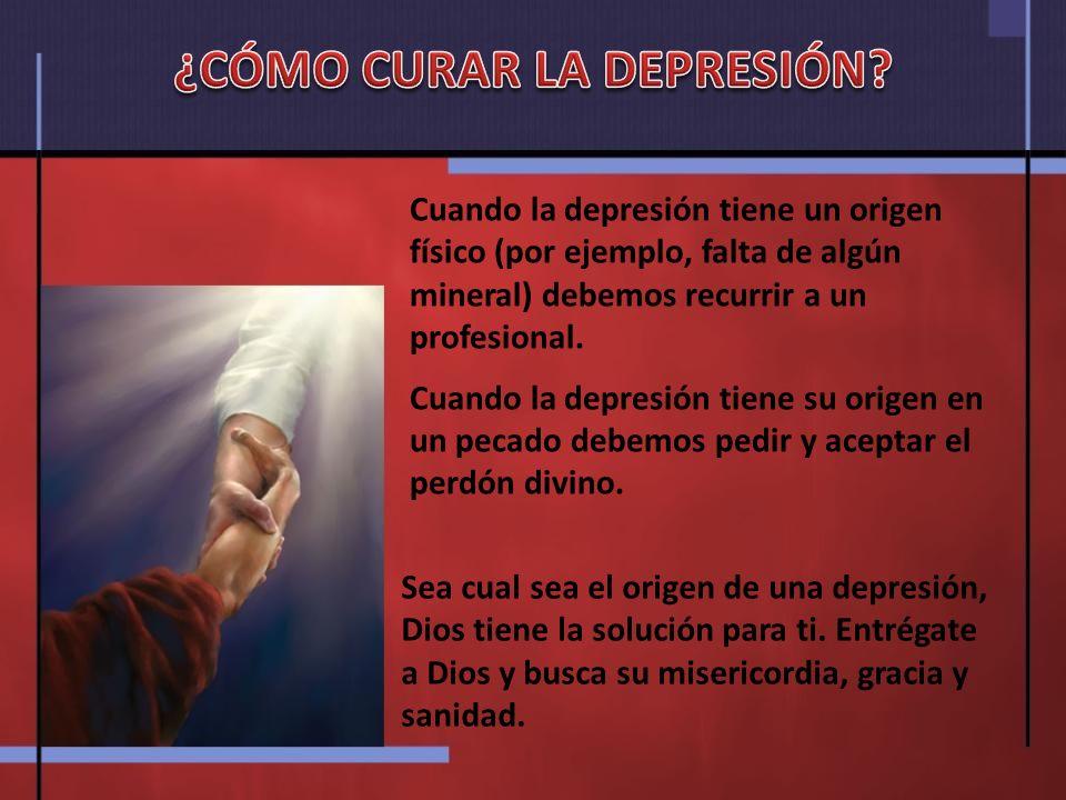 ¿CÓMO CURAR LA DEPRESIÓN