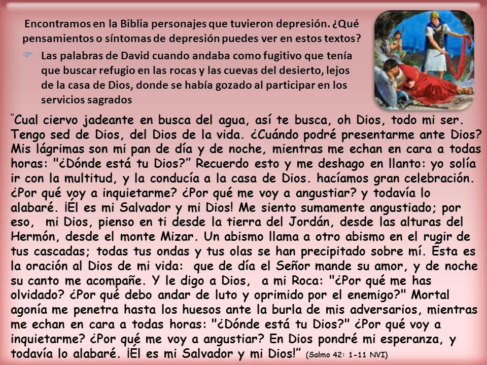 Encontramos en la Biblia personajes que tuvieron depresión