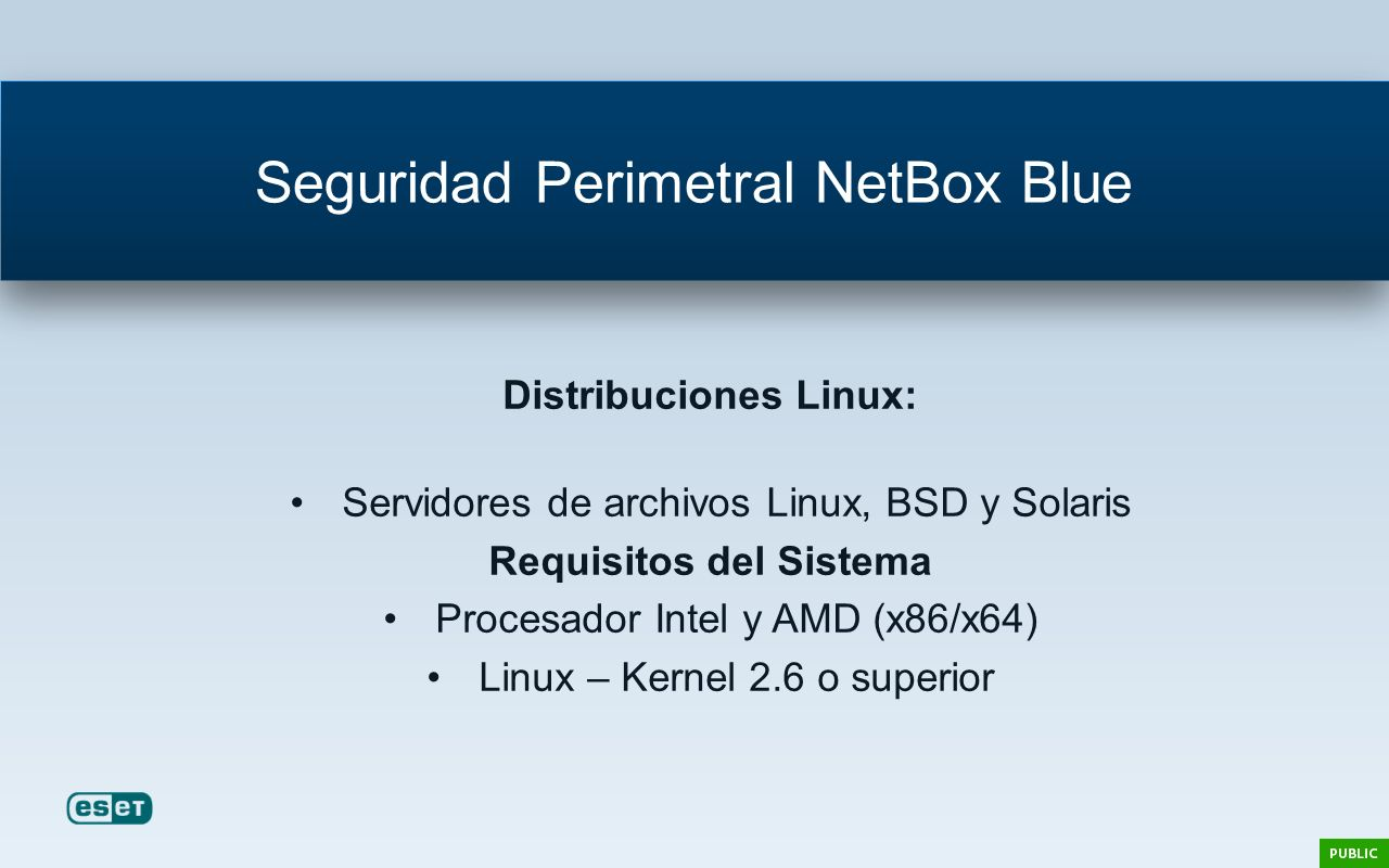 Seguridad Perimetral NetBox Blue