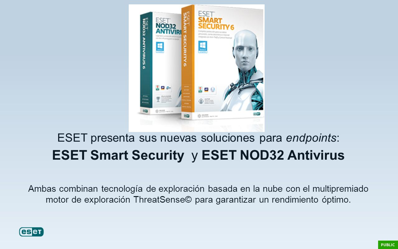ESET Smart Security y ESET NOD32 Antivirus