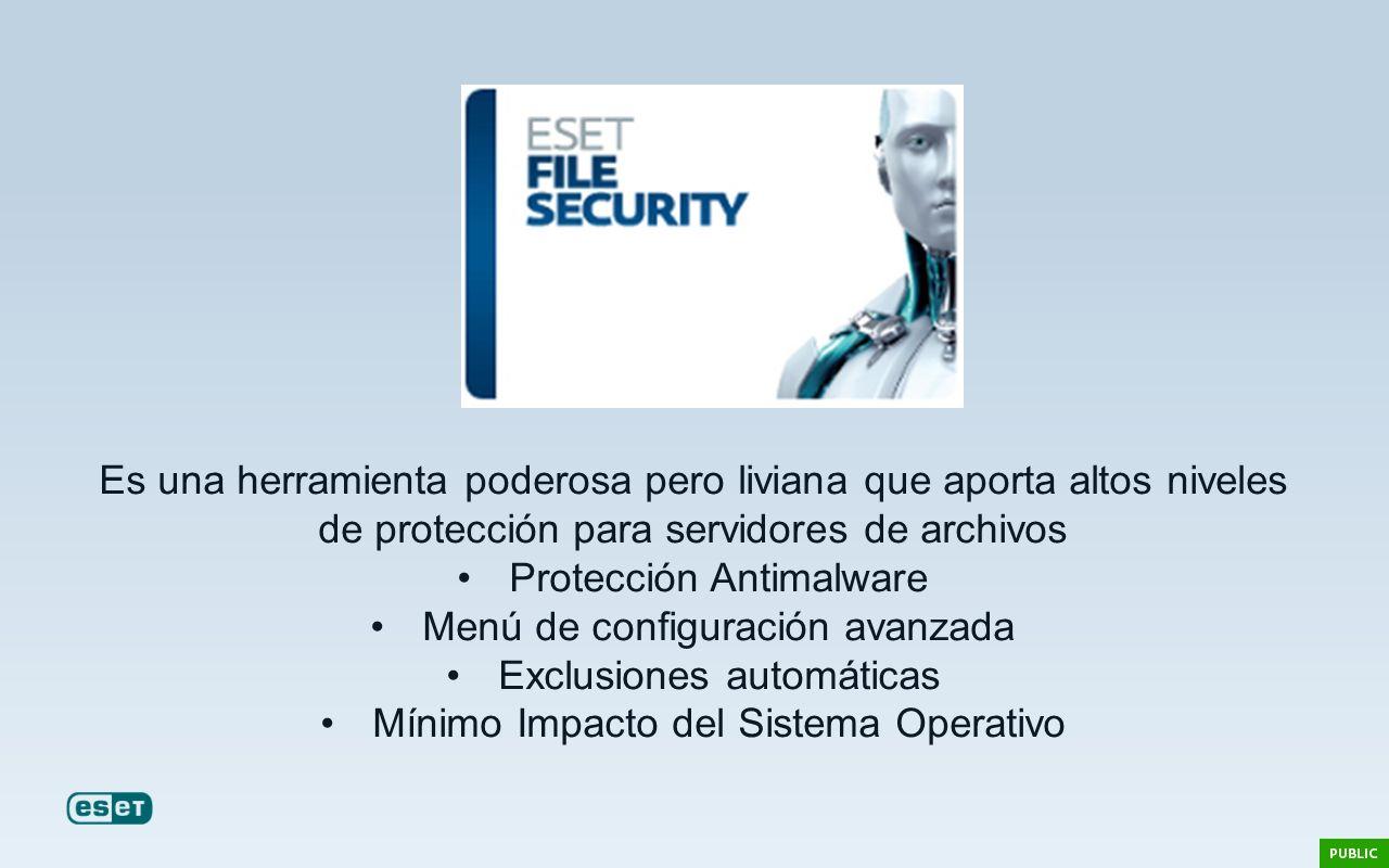 Protección Antimalware Menú de configuración avanzada