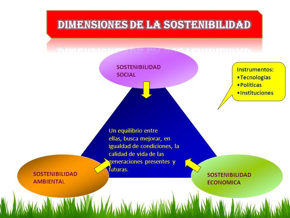 Dimensiones de la sostenibilidad