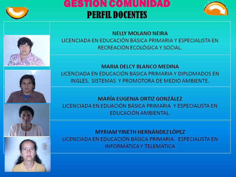 GESTIÓN COMUNIDAD PERFIL DOCENTES NELLY MOLANO NEIRA