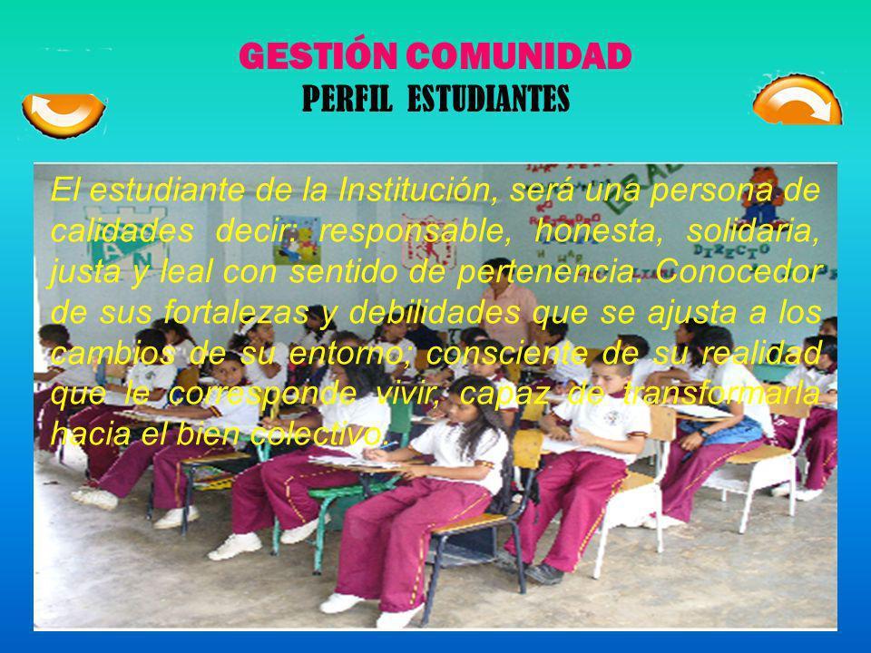 GESTIÓN COMUNIDAD PERFIL ESTUDIANTES