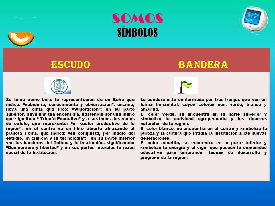 SOMOS SÍMBOLOS ESCUDO BANDERA