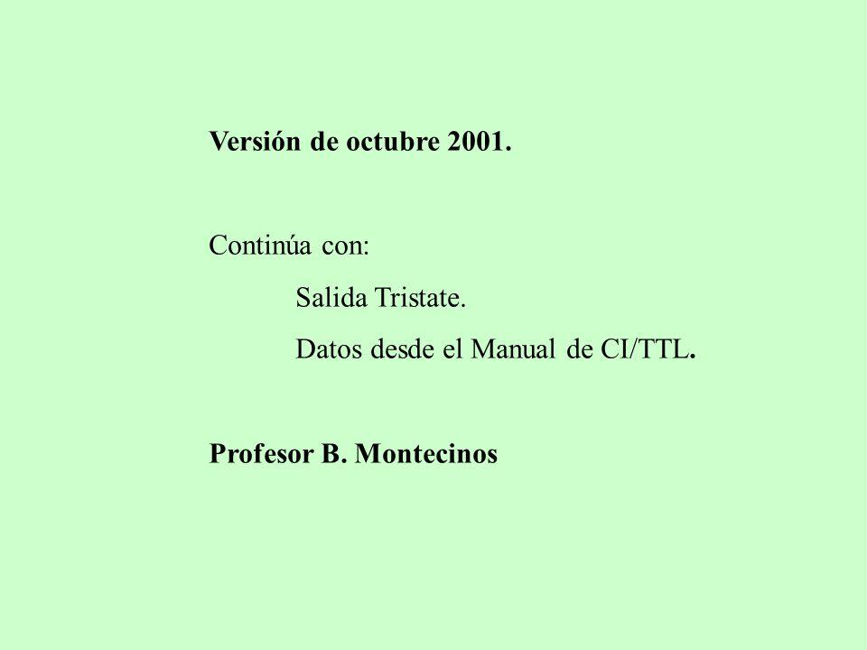Versión de octubre 2001. Continúa con: Salida Tristate.