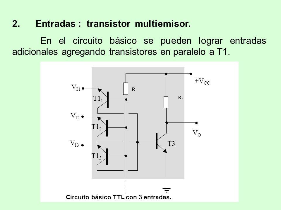 2. Entradas : transistor multiemisor.