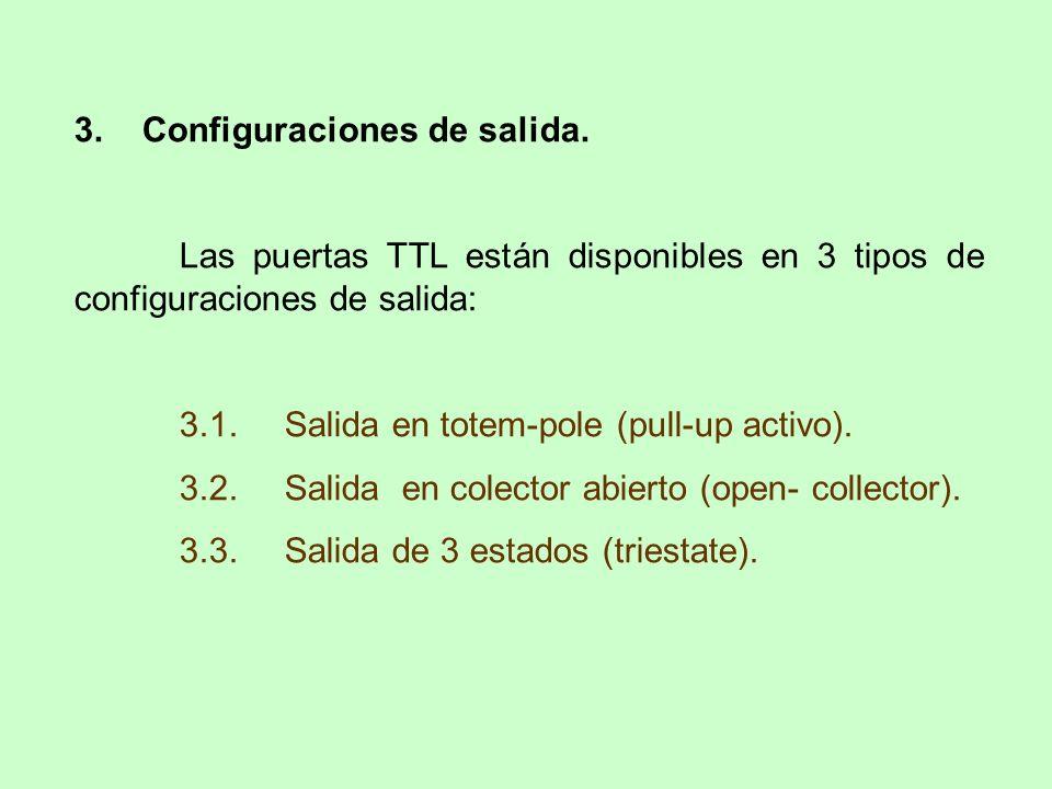 3. Configuraciones de salida.