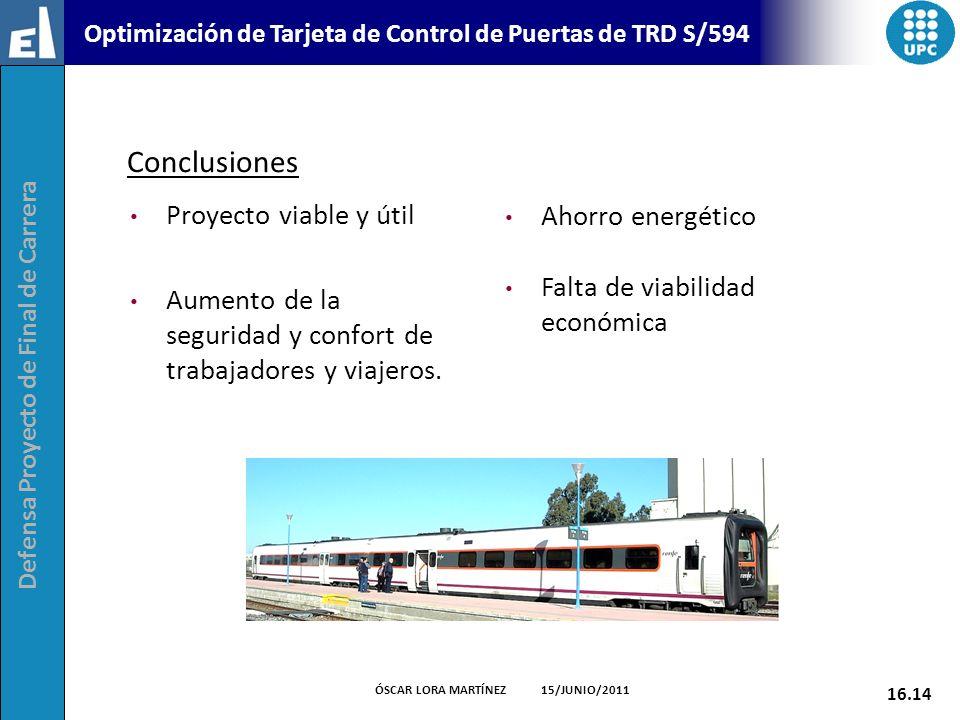 Conclusiones Proyecto viable y útil Ahorro energético
