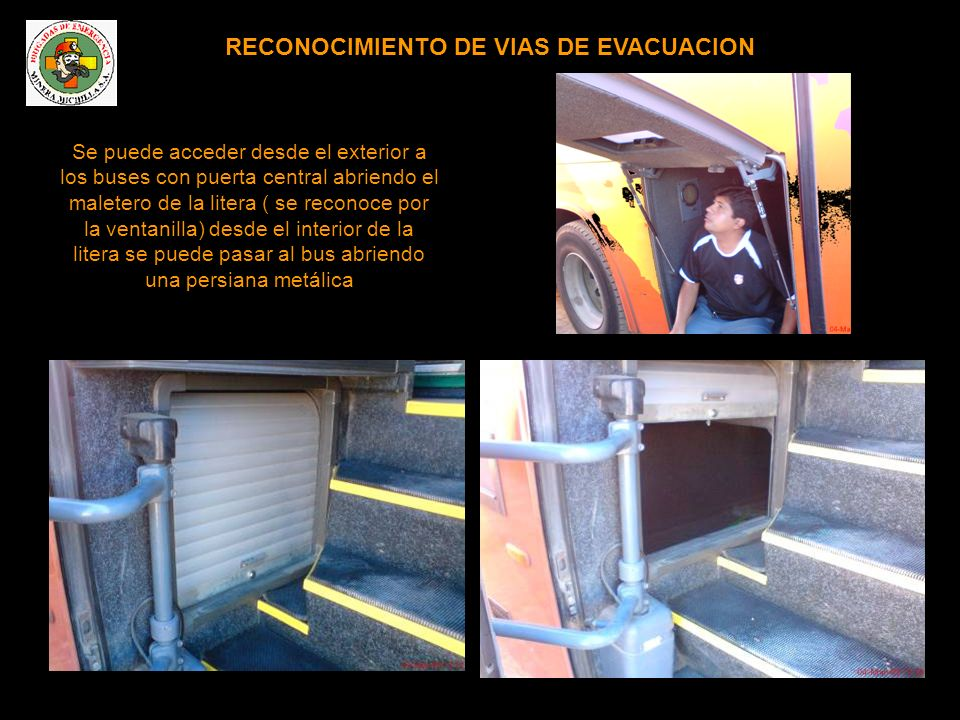 RECONOCIMIENTO DE VIAS DE EVACUACION