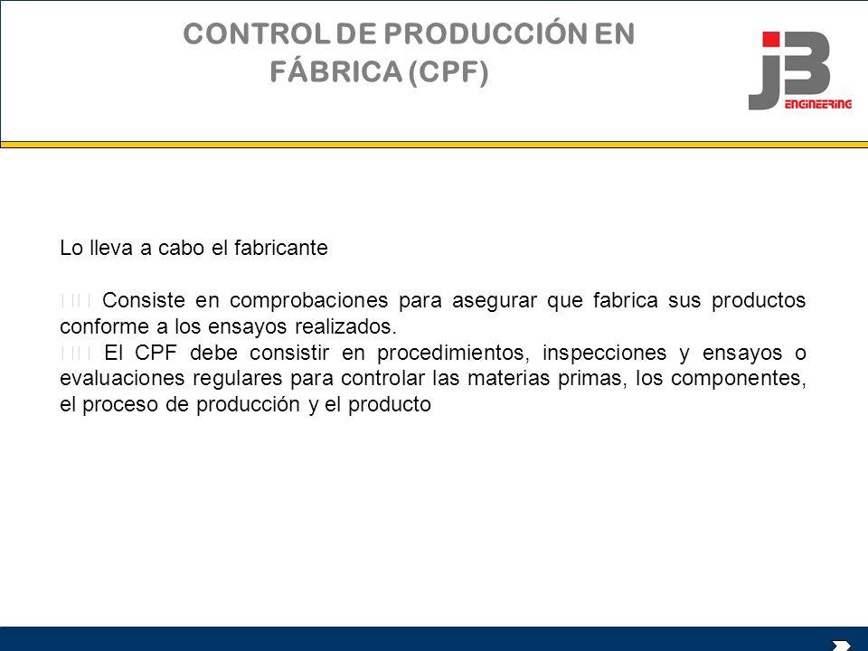 CONTROL DE PRODUCCIÓN EN FÁBRICA (CPF)